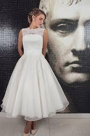50 s wedding dresses tea length wedding dress biwmagazine