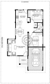 square meters single story house plan with a lot size of 227 square meters