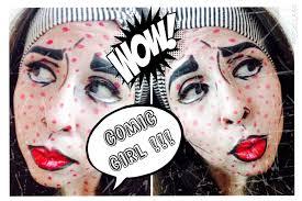 Halloween Makeup Comic Comic Pop Art Halloween Makeup Tutorial Maquillaje De