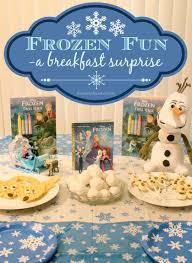 disney frozen themed breakfast u0026 mini party ideas frozenfun