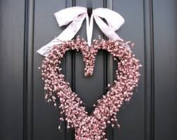 pink wreath etsy