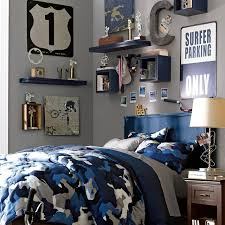 cute and colorful little boy bedroom ideas street theme blue and