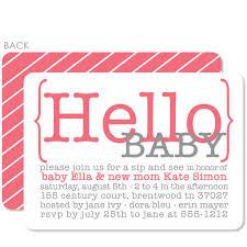 hello baby shower hello baby pink baby shower invitation pipsy