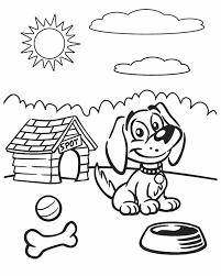 dog coloring inkleur free printable dog free
