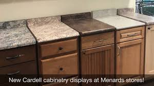 kitchen cabinets and countertops at menards new cardell cabinetry displays at menards stores