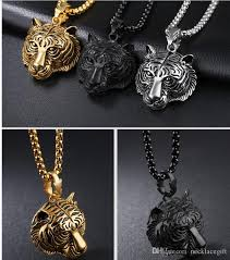 white gold necklace pendants images Wholesale fashion tiger necklace pendant 18k gold silver plated jpg