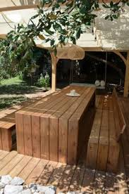Wooden Outdoor Table Diy by Diy Outdoor Dining Google Search Outdoor Projects Pinterest