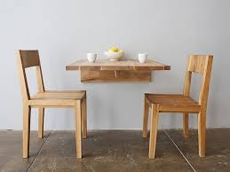 Home Design   Mesmerizing Dining Tables For Small Spacess - Wall mounted dining table designs