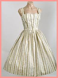 50 u0027s gold metallic embroidered starfish and stripes sundress