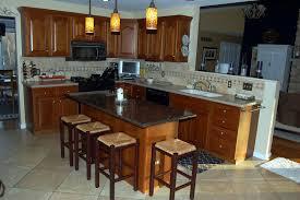 classy granite kitchen island with stools idea plus enchanting
