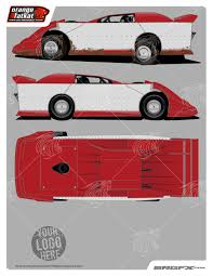 2014 dynamic dirt late model template of racing graphics