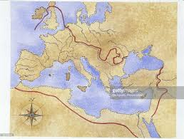 ancient rome map of roman empire illustration pictures getty