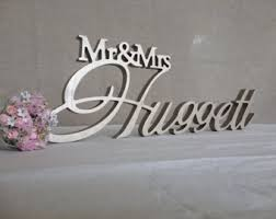 mr mrs sign for wedding table mr mrs wood sign etsy