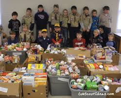 cub scout community service projects and involvement community
