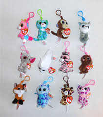 ty beanie boos plush backpack key clips lot zoey glamour