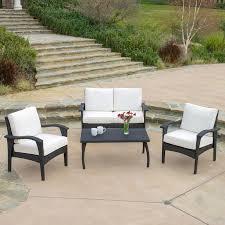 Three Piece Patio Furniture Set - thy hom roatan 4 piece outdoor wicker conversation set hayneedle