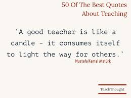 Quotes About Top 50 Best Quotes About Teaching Teachthought