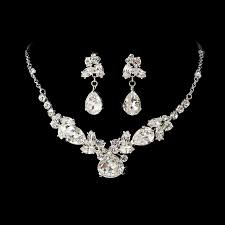 wedding jewelry silver plated bridal jewelry set bridal jewelry wedding