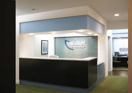Contemporary Reception Desks by Divine Modern Reception Desk Of Walker Dental Group Office Schemes