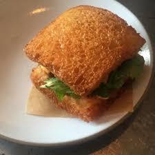 sriracha mayo shrimp toast sandwich herbs sriracha mayo at son of a gun on