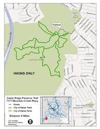 Dallas Tx Map Major Nature Trails Dallas Parks Tx Official Website