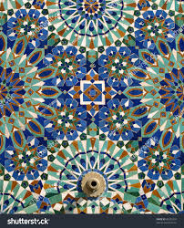 morocco casablanca typical arabesque moorish ceramic stock photo