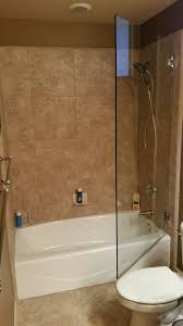 tub with glass shower door glass bathtub screen