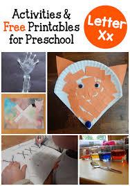 letter x activities for preschool the measured