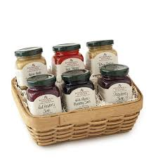 amazon com stonewall kitchen jam sampler 6 piece gift basket set