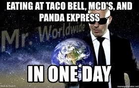 eating at taco bell mcd s and panda express in one day mr