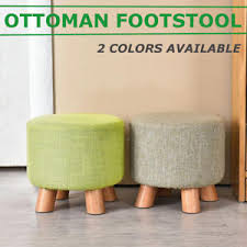 Ottoman Small Footstool Small Wood Pouffe Chair Ottoman Foot Stool Foot