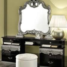 Vanity Dresser With Mirror Aida Vanity Dresser And Mirror In Black Silver Vanity Dressers In