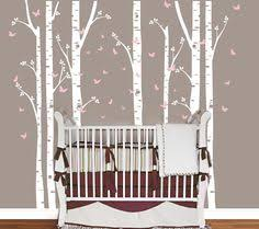 birch tree wall decal for nursery and home by designedbeginnings