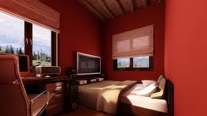 color schemes for small rooms small bedroom colors and designs with amazing red wall painting