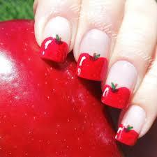 simple apple nail art youtube fimo apple nail art by jaideholly