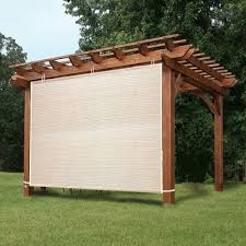 Roll Up Sun Shades For Patios Pergola Roll Up Outdoor Porch Shades Patio Blinds Deck Sun Screen