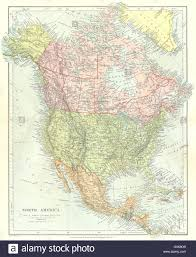North And Central America Map by 1845 Map Texas Republic United States Stock Illustration 53225671