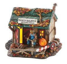 department 56 halloween village department 56 4049914 haunted rails outpost