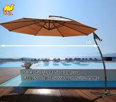 How To Fix Patio Umbrella by Amazon Com Strong Camel 10 U0027 Cantilever Patio Umbrella Garden