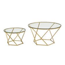 walker edison coffee table walker edison furniture company af28clrgggd geometric glass nesting