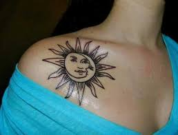 best 24 sun and moon tattoos design idea for and tattoos