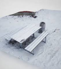 Model Bench 3d Model Bench With Snow Cgtrader