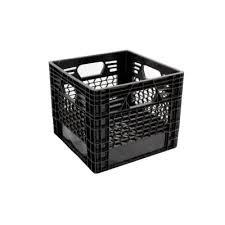 sterilite storage home depot black friday gsc technologies 11 in x 13 in x 13 in black milk crate milk