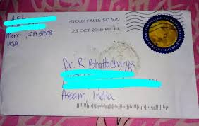 how many stamps do i need to send a letter to india from the us