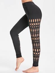 Jamaican Flag Leggings 2018 Sports Cutout See Through Leggings Black Xl In Pants
