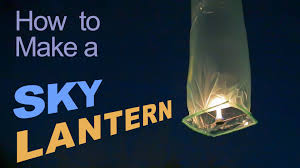 How To Make Paper Air Balloon Lantern - how to make a sky lantern
