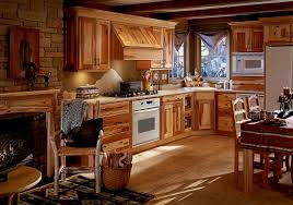 wood home interiors interior modern rustic kitchen style with wooden cabinet idea