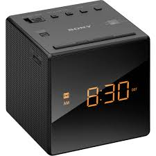Minimalist Alarm Clock by Sony Radio Alarm Clock Black Icfc1black B U0026h Photo Video