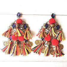 earrings models dongmu jewelry 2017 new fashion bohemian tassel exaggerated