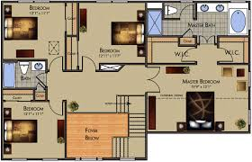 modern home layouts home design layout stunning idea colored floor plan architecture
